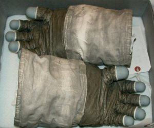 Jack Schmitt's Apollo 17 EVA gloves. Image credit: NASA, National Air and Space Museum's Garber Facility, and Ulrich Lotzmann.